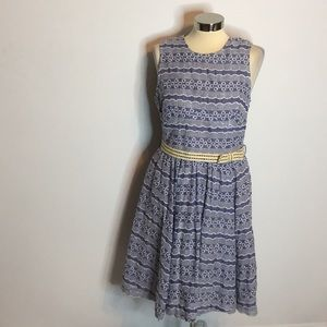 NWT Plenty tracy Reese embroidered chambray dress